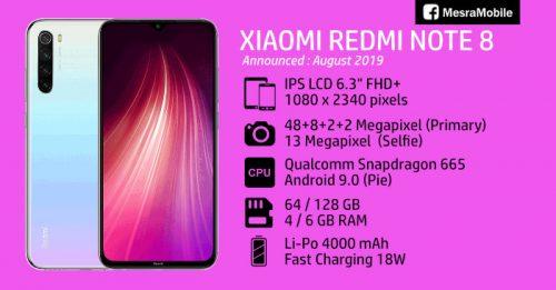 Xiaomi Redmi Note 8 128GB RAM6 Dual sim شیاومی نوت 8 128گیگ رام6