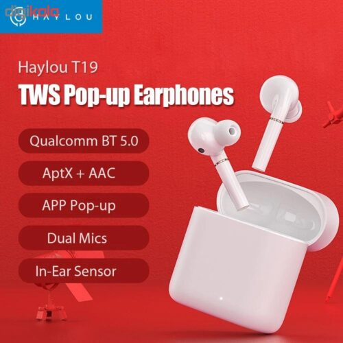هدفون بلوتوثی کیو سی وای مدل HAYLOU QCY-T19 Wireless Earphones