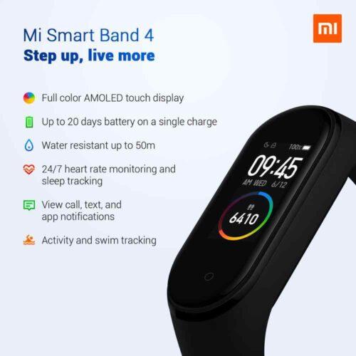 مچ بند هوشمند شیائومی مدل می بند ۴ Mi Band 4 Smart Band