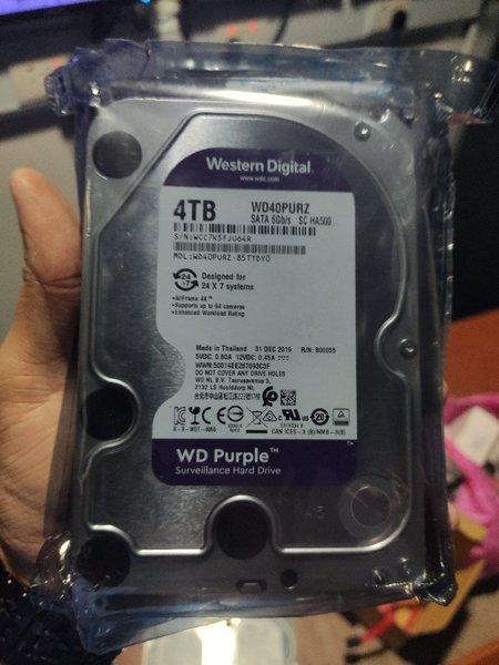 هارد دیسک اینترنال وسترن دیجیتال سری Purple ظرفیت ۴ترابایت