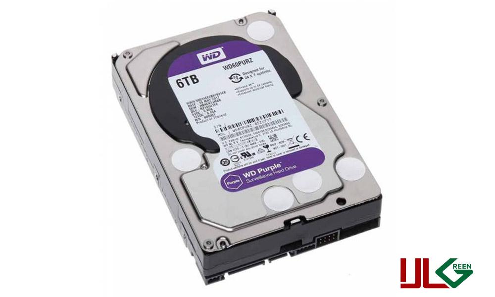 هارد دیسک اینترنال وسترن دیجیتال سری Purple ظرفیت ۶ترابایت