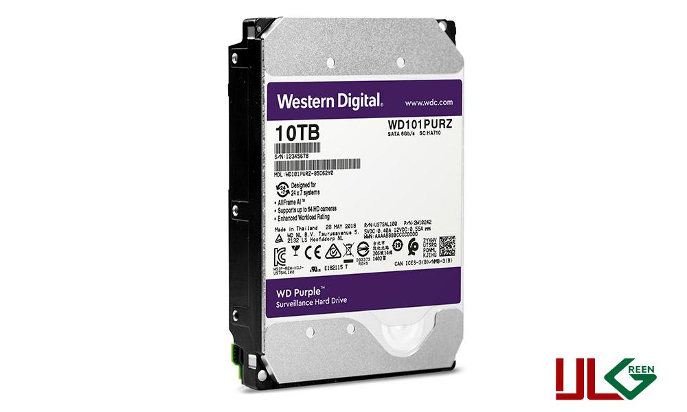 هارد دیسک اینترنال وسترن دیجیتال سری Purple ظرفیت ۱۰ ترابایت