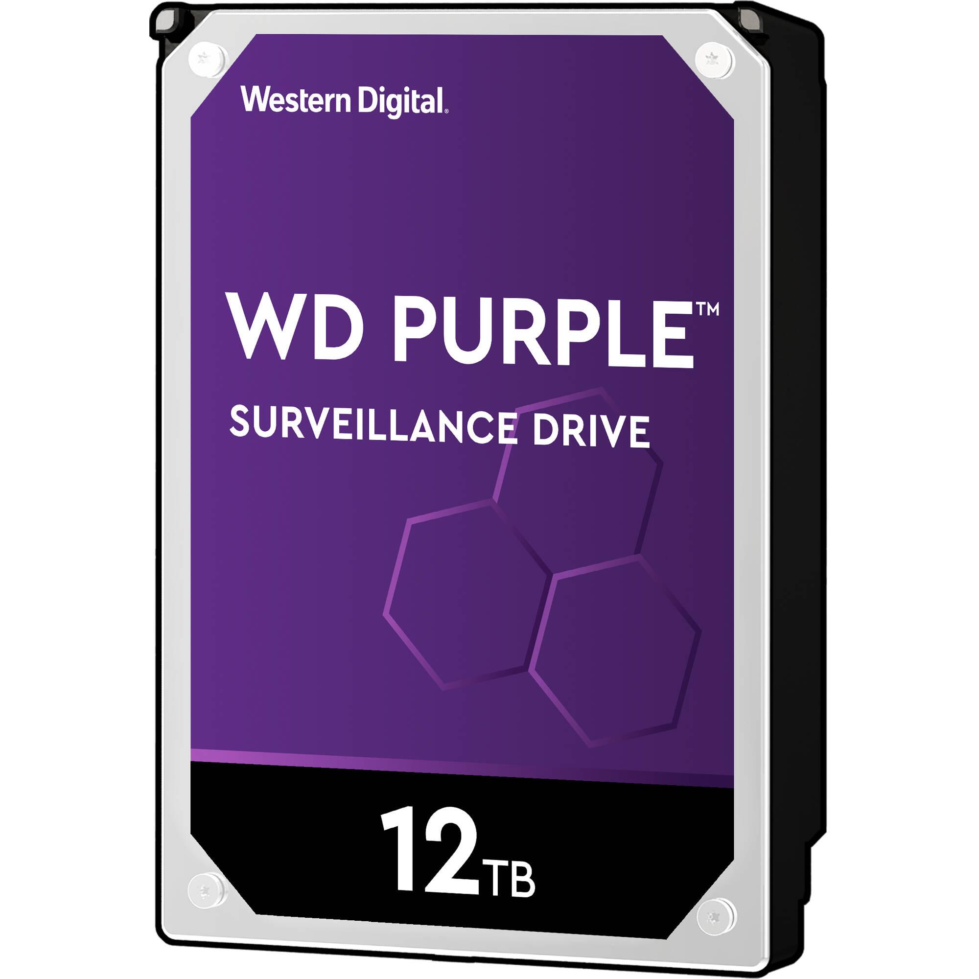 هارد دیسک اینترنال وسترن دیجیتال سری Purple ظرفیت ۱۲ترابایت