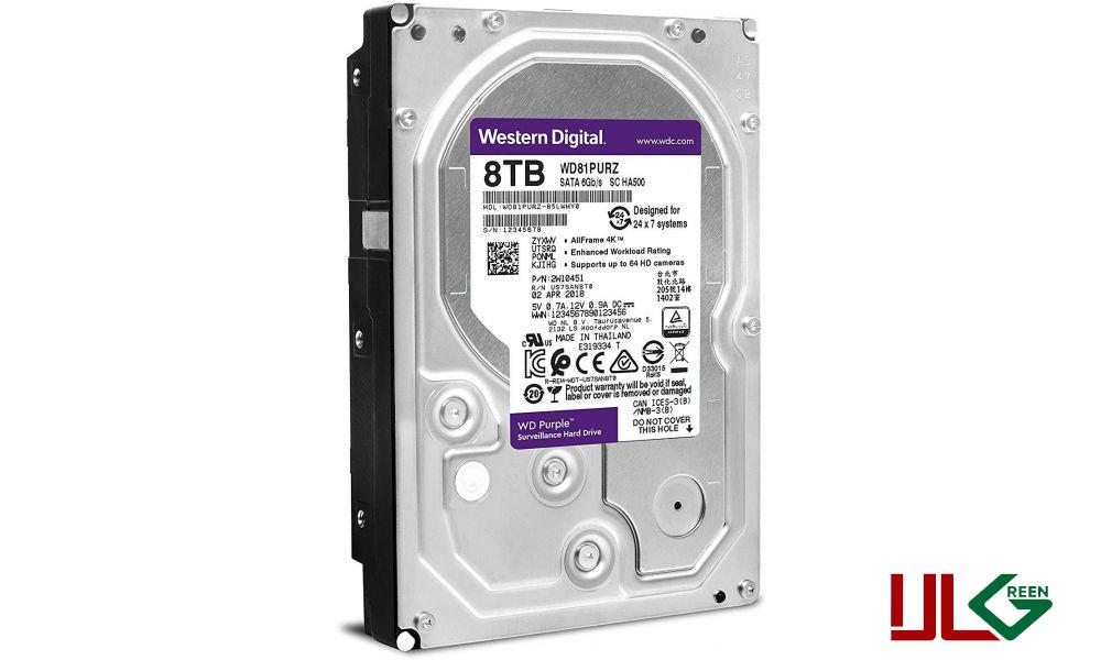 هارد دیسک اینترنال وسترن دیجیتال سری Purple ظرفیت ۸ترابایت