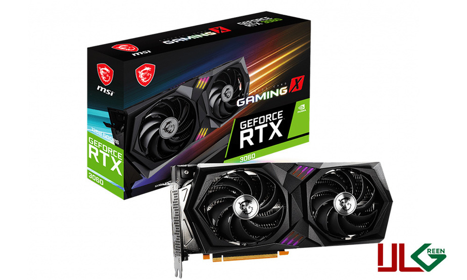 VGA MSI Gaming X GeForce RTX3060 12GB GDDR6 کارت گرافیک ام اس ای