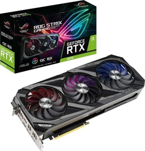 VGA Asus ROG Strix OC GeForce RTX3070 8GB GDDR6 کارت گرافیک ایسوس راگ استریکس ۳۰۷۰