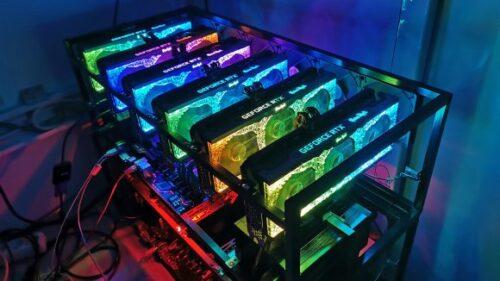 VGA Palit GameRock GeForce RTX3070 8GB GDDR6 کارت گرافیک پالیت گیم راک جی فورس ایکس آر تی ایکس ۳۰۷۰