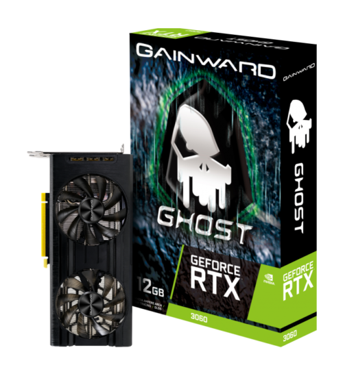 VGA GainWard Ghost RTX3060 12GB GDDR6 LHR کارت گرافیک گینوارد گاست ۳۰۶۰ ۱۲گیگابایت